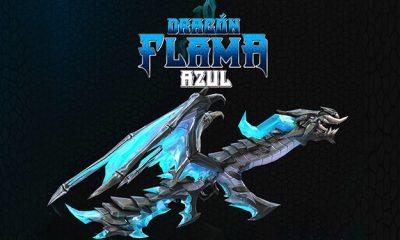 Dragón Flama Azul